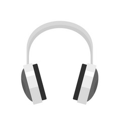 wired headphones icon flat style vector image