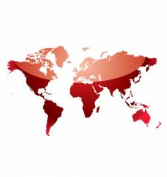 Red map of world on transparent background vector image world map reflect red vector image gumiabroncs Images