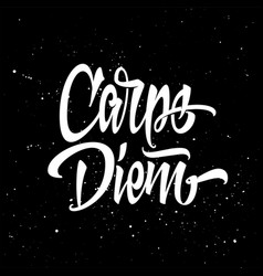 carpe diem for a t-shirt black and white vector image