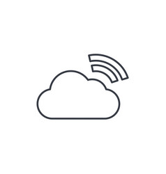 cloud database computer technology thin line icon vector image vector image