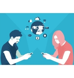 communication at a distance vector image