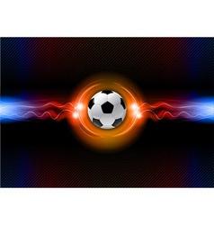 football electric dark orange vector image vector image