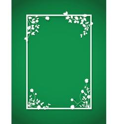 green floral box vector image vector image
