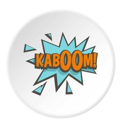 Kaboom comic text sound effect icon circle vector