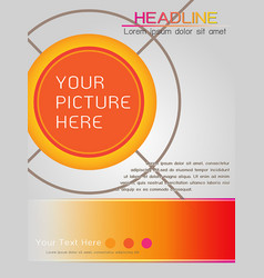 magazine cover template design in orange theme vector image