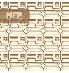 mfp seamless pattern vector image vector image