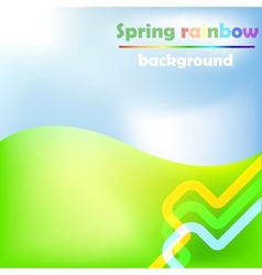 spring rainbow background vector image