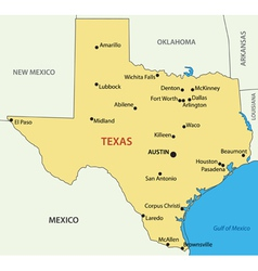 Texas - map vector image