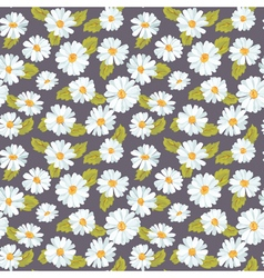 Vintage Floral Daisy Background - seamless pattern vector image vector image