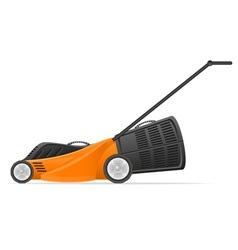 lawn mower 01 vector image