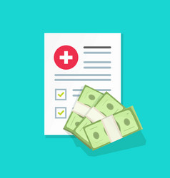 medical document and money vector image