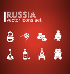 Russian icon set vector image