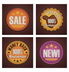 shopping badges set vector image vector image