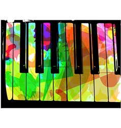 colorful piano vector image vector image