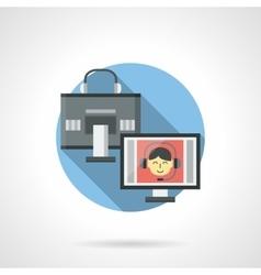 Digital communication color detail icon vector image