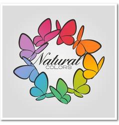 Multicolored butterflies vector image vector image