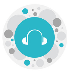 of mp3 symbol on headphones vector image