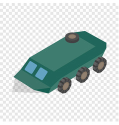 Armoured troop carrier wheeled isometric icon vector