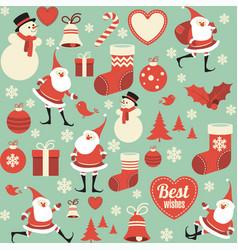 flat design christmas seamless pattern vector image vector image