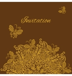 invitation Brown background vector image