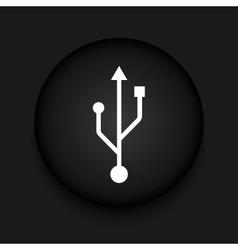 modern usb black circle icon vector image