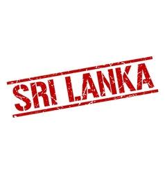 Sri lanka red square stamp vector