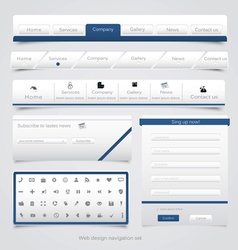 Web site navigation menu pack 4 vector image vector image