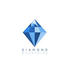 abstract icon design template mountain diamond vector image