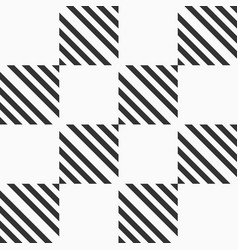abstract seamless pattern of striped squares vector image