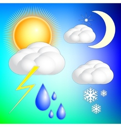 abstract weather image set vector image
