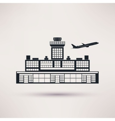 Airport building Icon in the flat style vector image