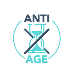 Anti-age stamp - emblem for anti-aging vector