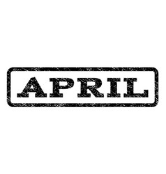 April watermark stamp vector