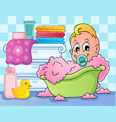 baby room theme image 4 vector image