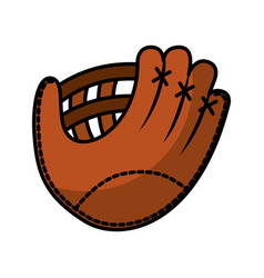 baseball glove isolated icon vector image