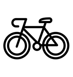 Bicycle icon outline style vector