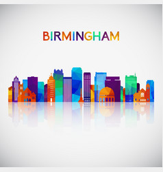 Birmingham alabama usa skyline vector