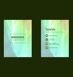 Brochure layout template watercolor cover design vector