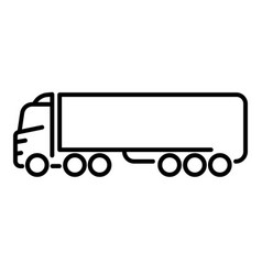 cabover truck cargo transportation truck or lorry vector image