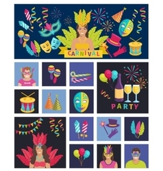 Carnival Icon Flat vector