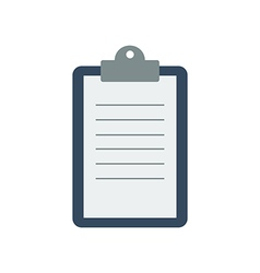 Clipboard with a sheet of paper vector