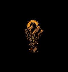 coffee mountain logo icon vector image