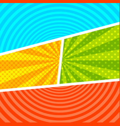 Comic bright colorful composition vector