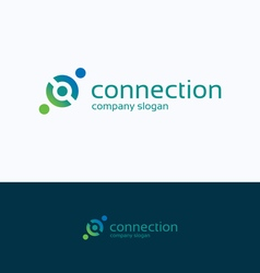 Connection company logo vector