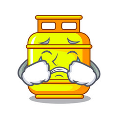 Crying creative in gas cartoon tank container vector