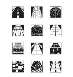 different types road surfaces vector image