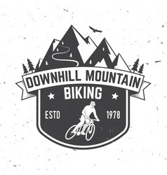 Downhill mountain biking vector