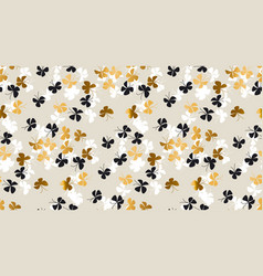 Elegant scattered gold and black background vector