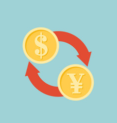 Exchange money sign icon vector