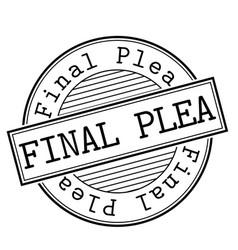 Final plea stamp typ vector